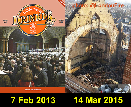 Battersea Arts Centre - before and after the fire