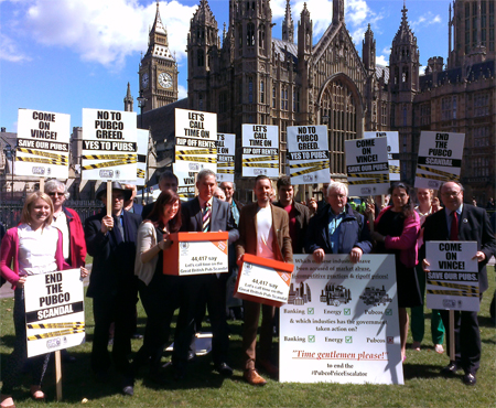 CAMRA Pub Scandal Parliamentary Protest