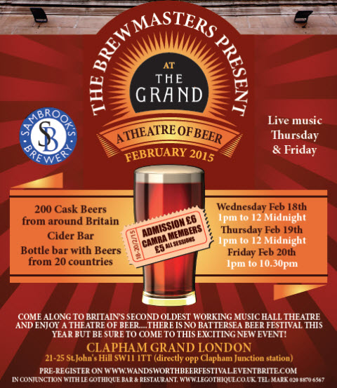 Brewmasters: Theatre of Beer 2015 flyer